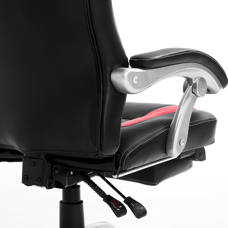 Brilliant Ctf Racing Sport Reclining High Back Swivel Chair With Foot Stool Black Red Alphanode Cool Chair Designs And Ideas Alphanodeonline