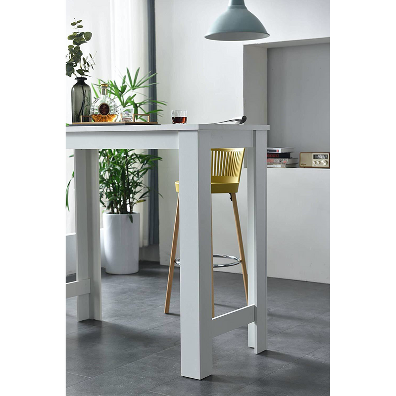 Cherry Tree Furniture DRAMMEN High Bar Table, White