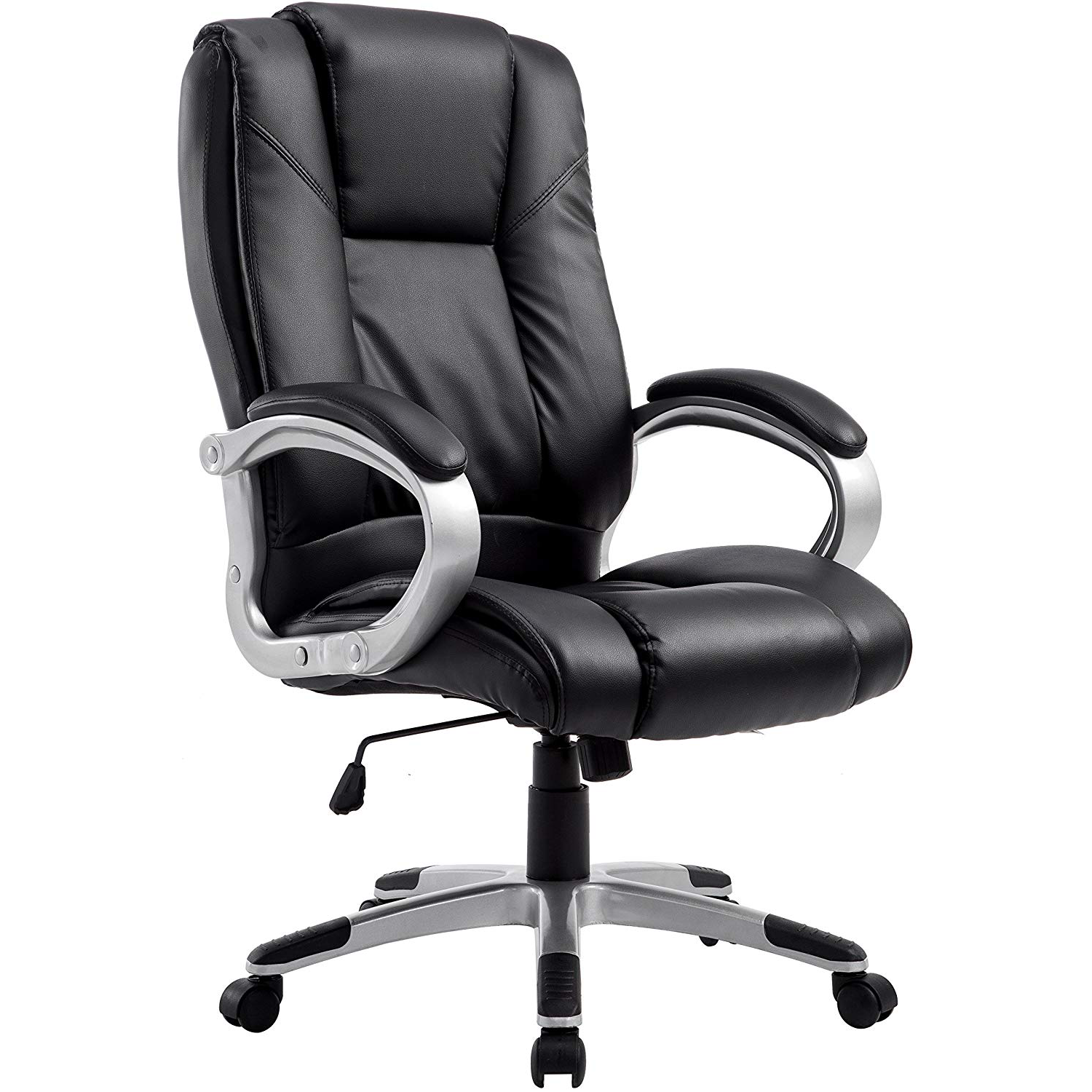 Cherry Tree Furniture High Back PU Leather Executive Swivel Office Chair, MO59 Black