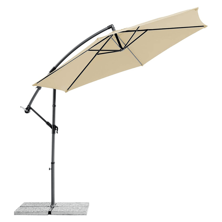 3M Powder Coated Steel Cantilever Parasol Beige