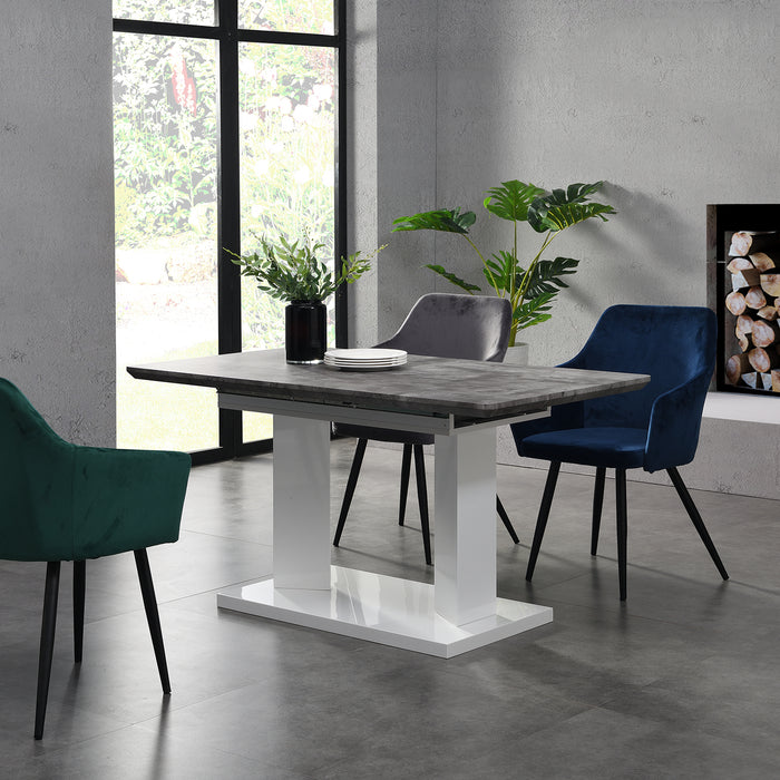 Goswell Concrete Effect Extending Dining Table 6 to 8 Seater 2