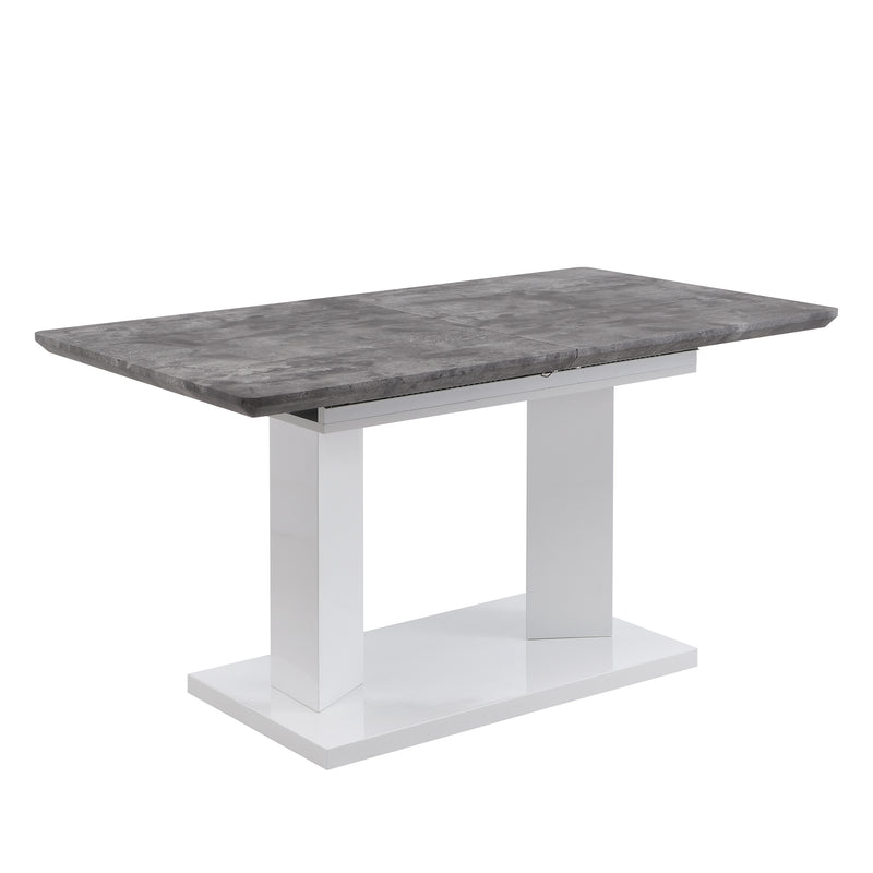 Goswell Concrete Effect Extending Dining Table 6 to 8 Seater 4