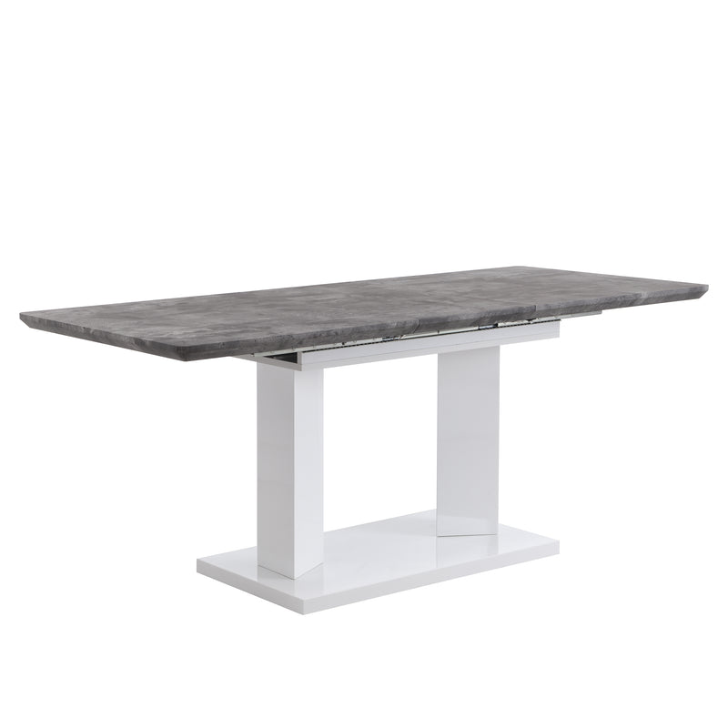Goswell Concrete Effect Extending Dining Table 6 to 8 Seater 5