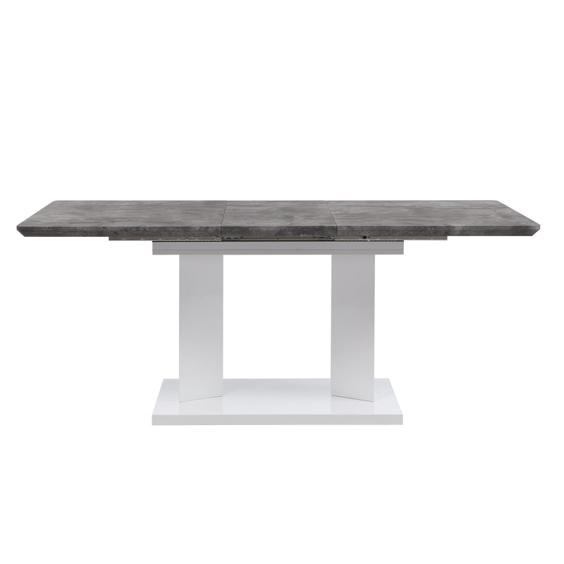 Goswell Concrete Effect Extending Dining Table 6 to 8 Seater 6