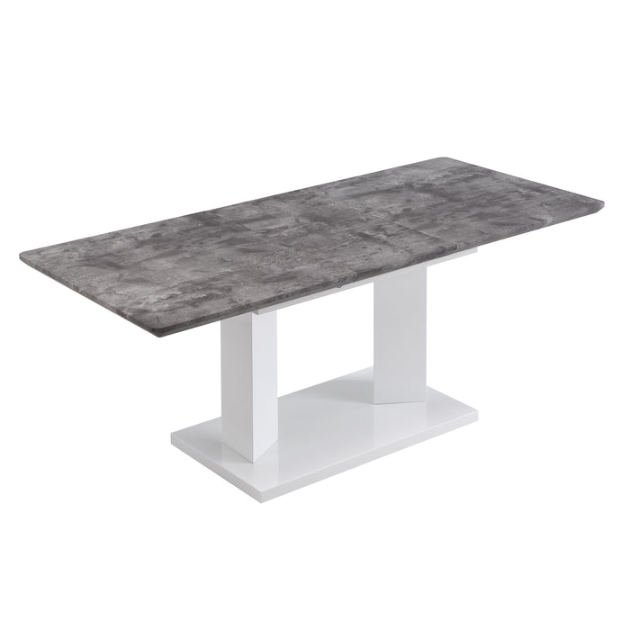 Goswell Concrete Effect Extending Dining Table 6 to 8 Seater 7