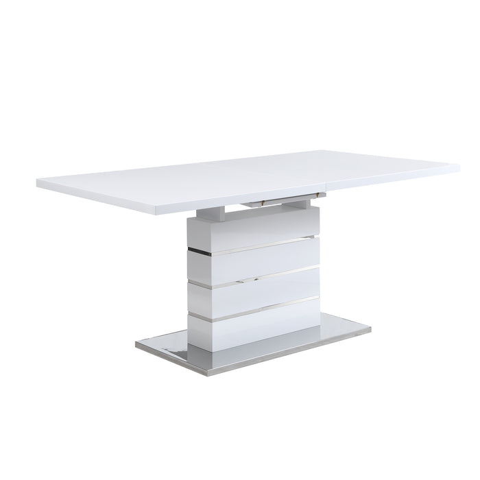 Hayne High Gloss White Extending Dining Table 6 to 8 Seater 4