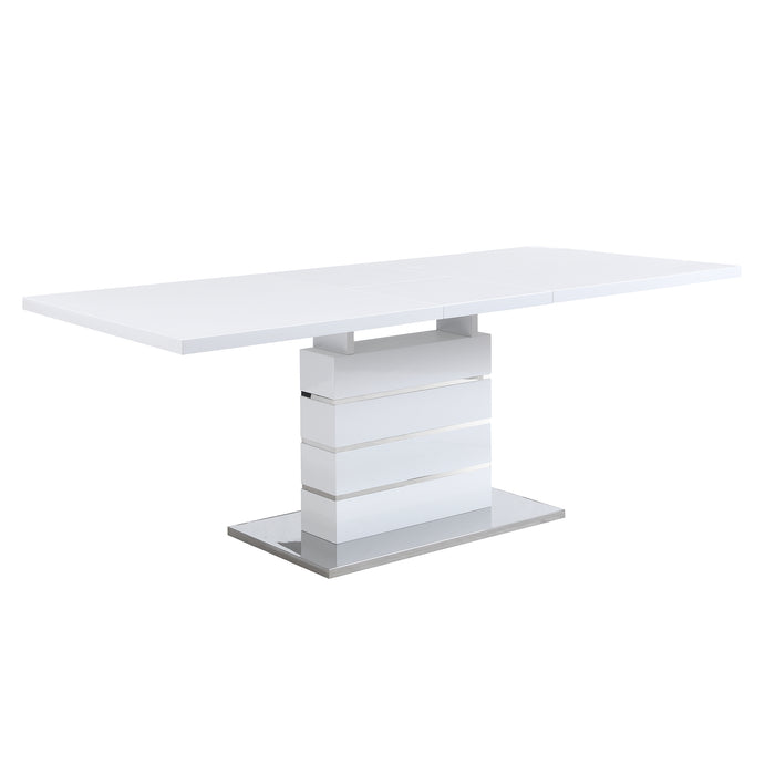 Hayne High Gloss White Extending Dining Table 6 to 8 Seater 5