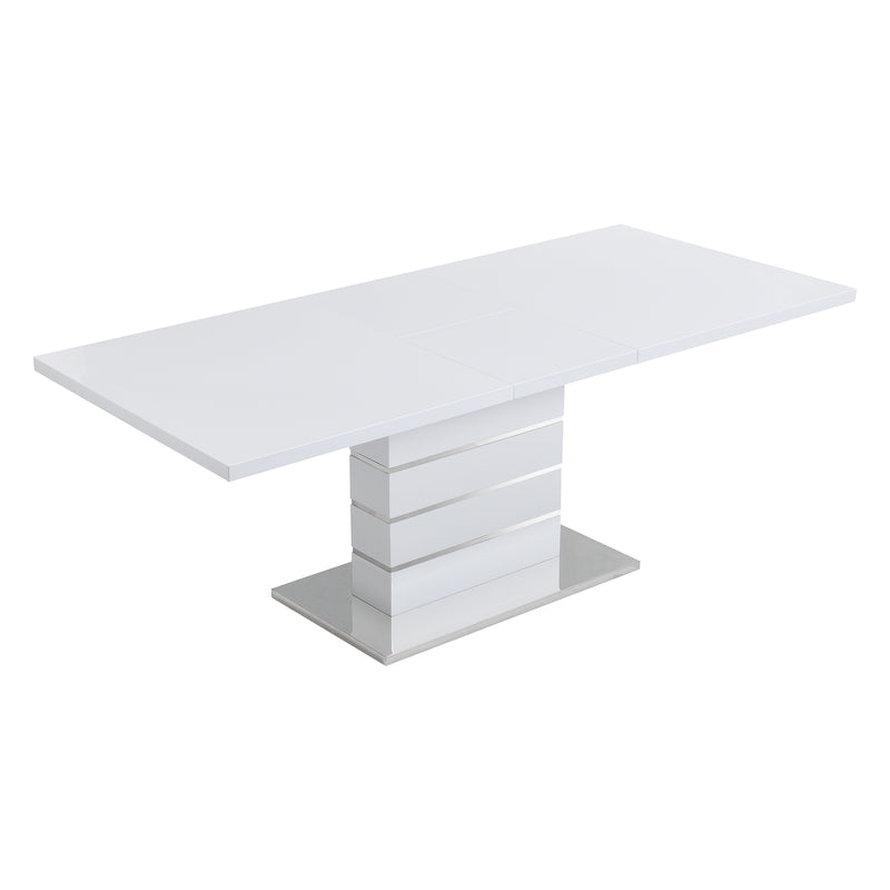 Hayne High Gloss White Extending Dining Table 6 to 8 Seater 6