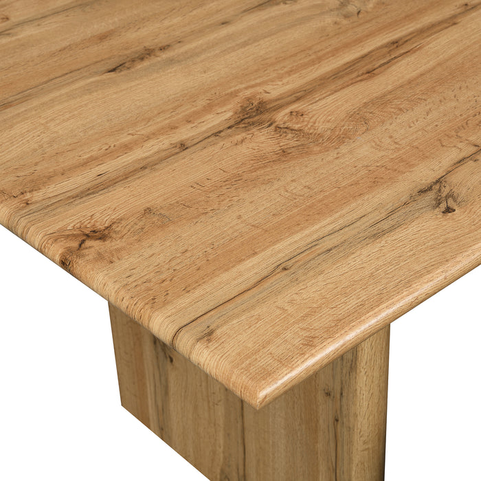Kennett Oak Effect 180 cm Dining Table and Bench Set 7