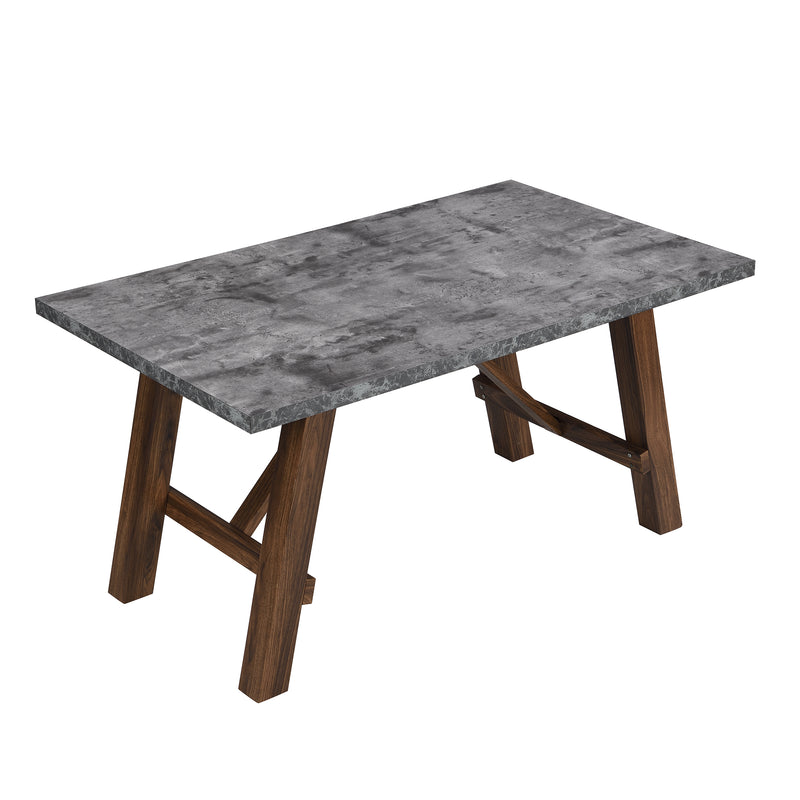 Lambeth Concrete effect 150cm Dining Table 3