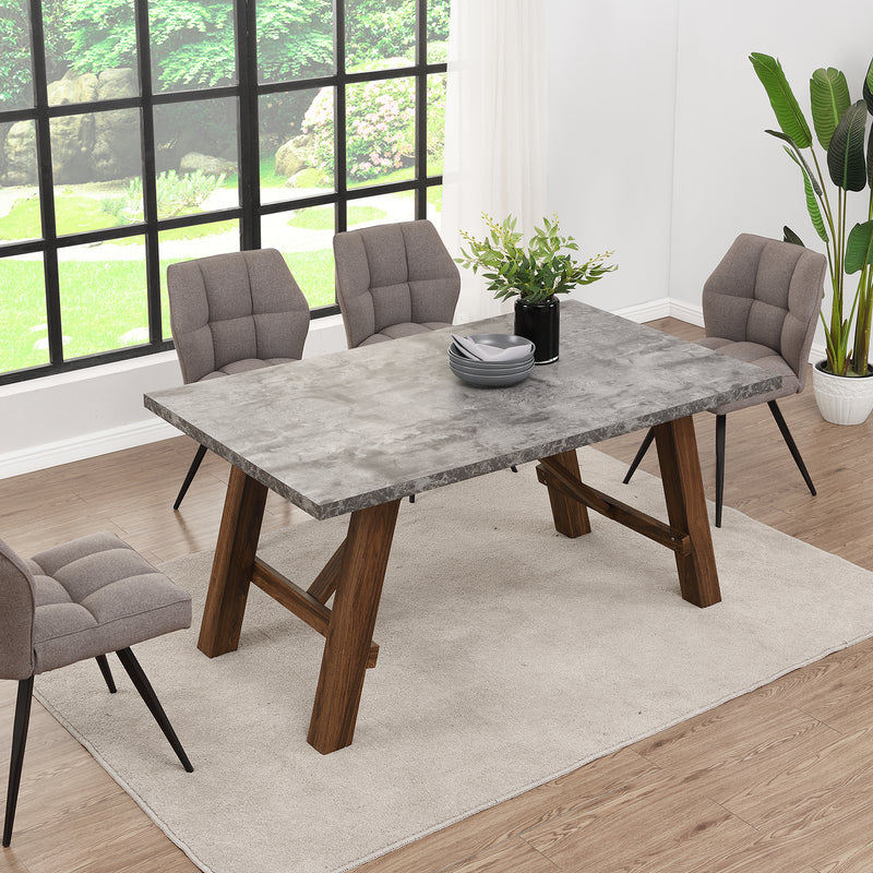 Lambeth Concrete effect 150cm Dining Table 5