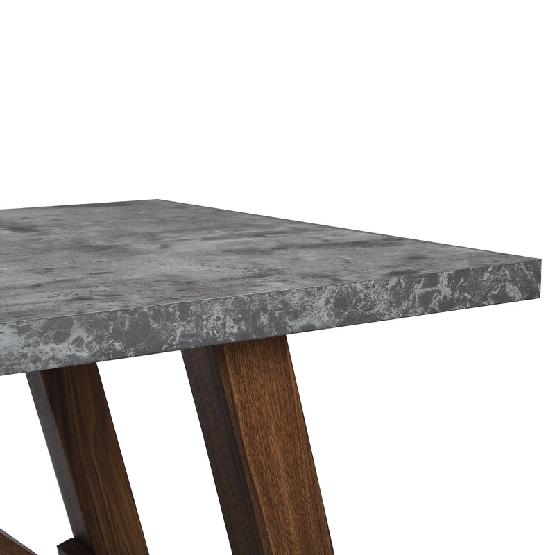 Lambeth Concrete effect 150cm Dining Table 8