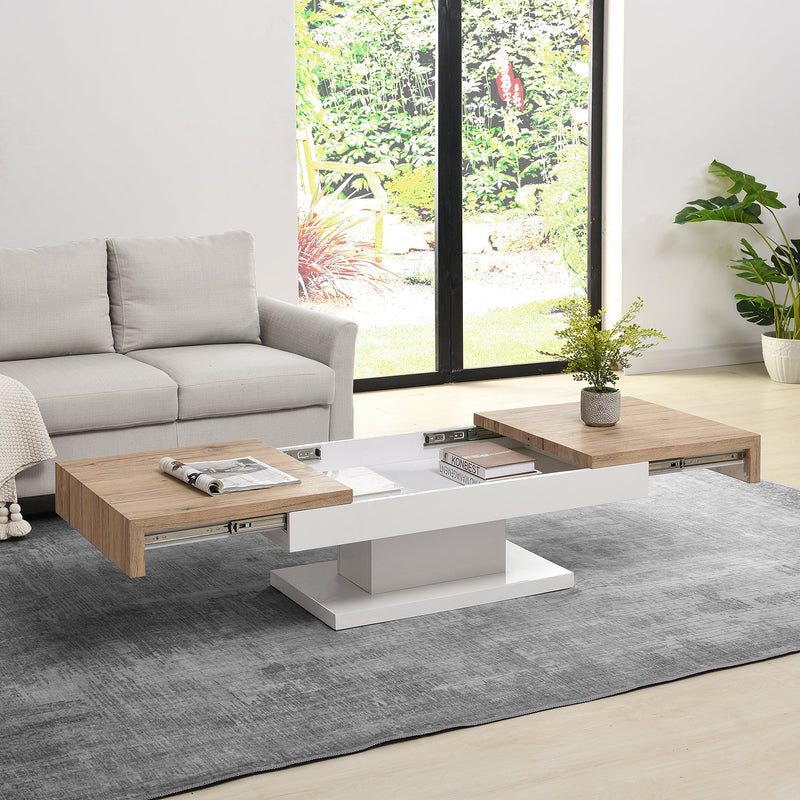 Blythe Two Block Sliding Storage Coffee Table 2