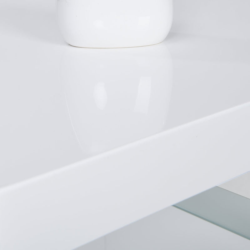 Albion White High Gloss and Glass Coffee Table 6