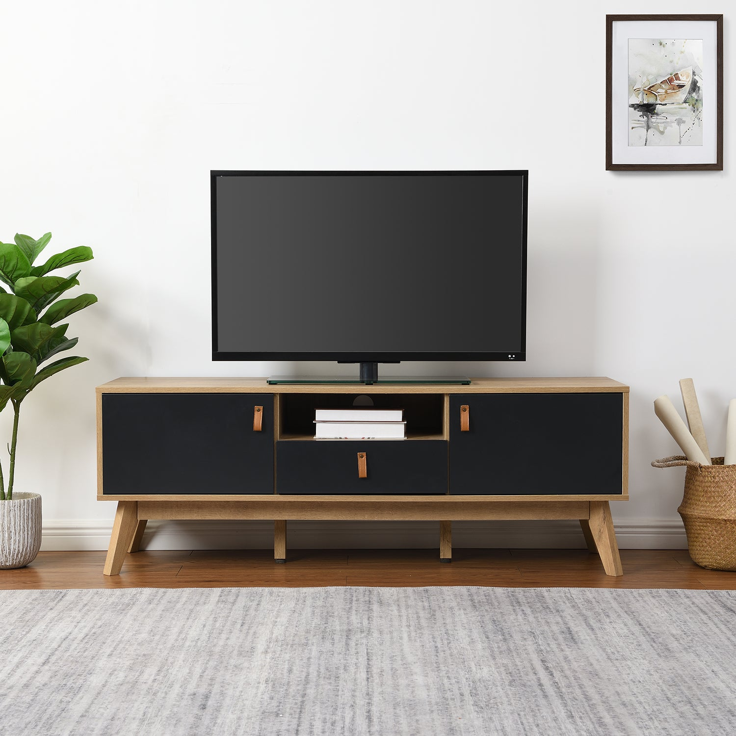 Tallis Two Tone TV Unit with 2 doors and 1 drawer  1
