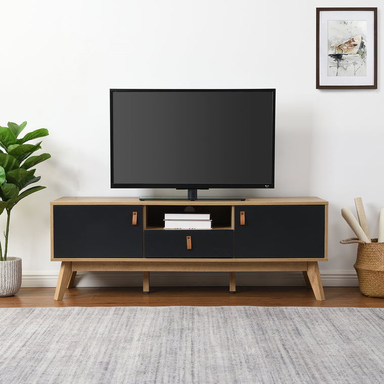 Tallis Two Tone TV Unit with 2 doors and 1 drawer