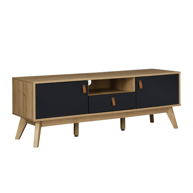 Tallis Two Tone TV Unit with 2 doors and 1 drawer  2