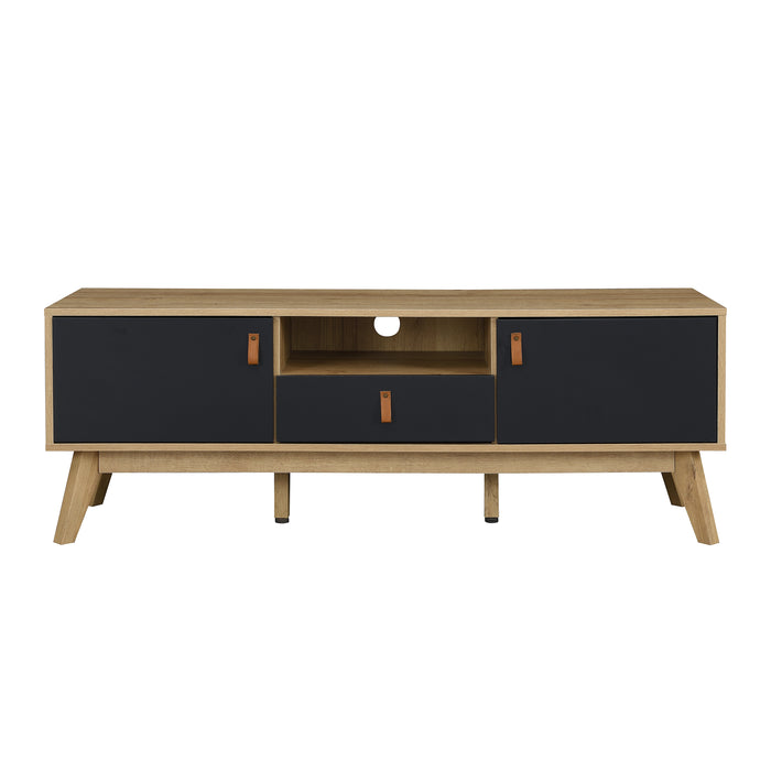 Tallis Two Tone TV Unit with 2 doors and 1 drawer  3