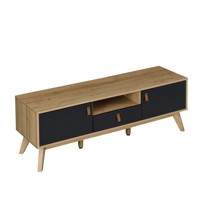 Tallis Two Tone TV Unit with 2 doors and 1 drawer  4