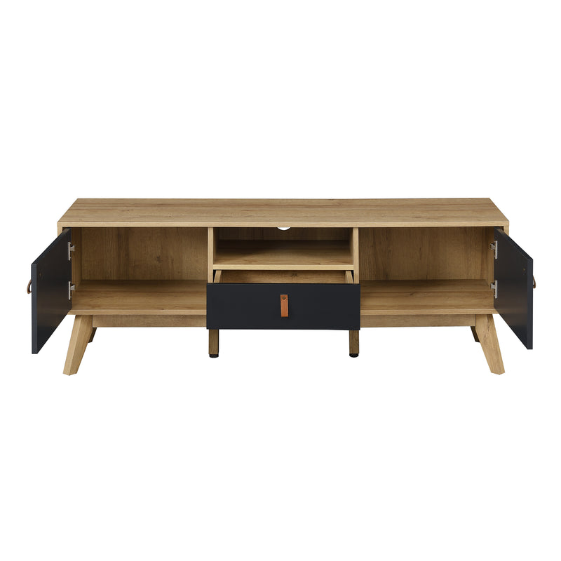 Tallis Two Tone TV Unit with 2 doors and 1 drawer  6