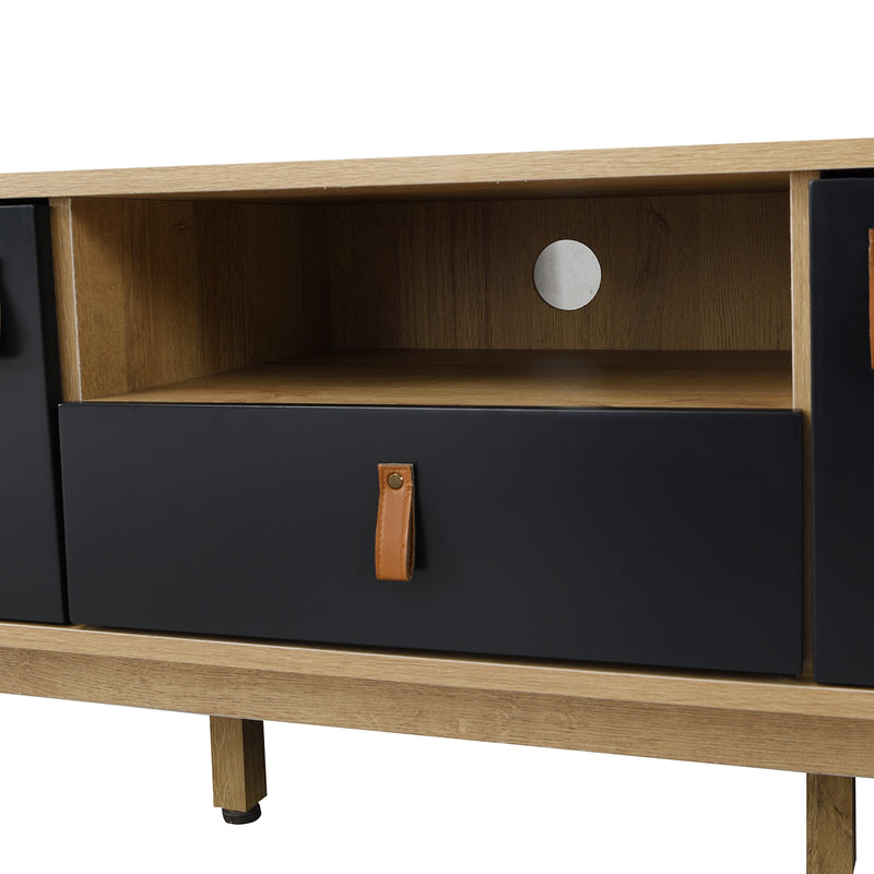 Tallis Two Tone TV Unit with 2 doors and 1 drawer  8