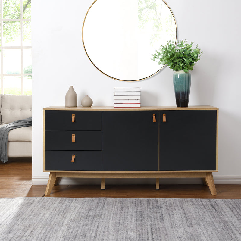 Tallis Two Tone Sideboard with 2 doors and 3 drawers 2