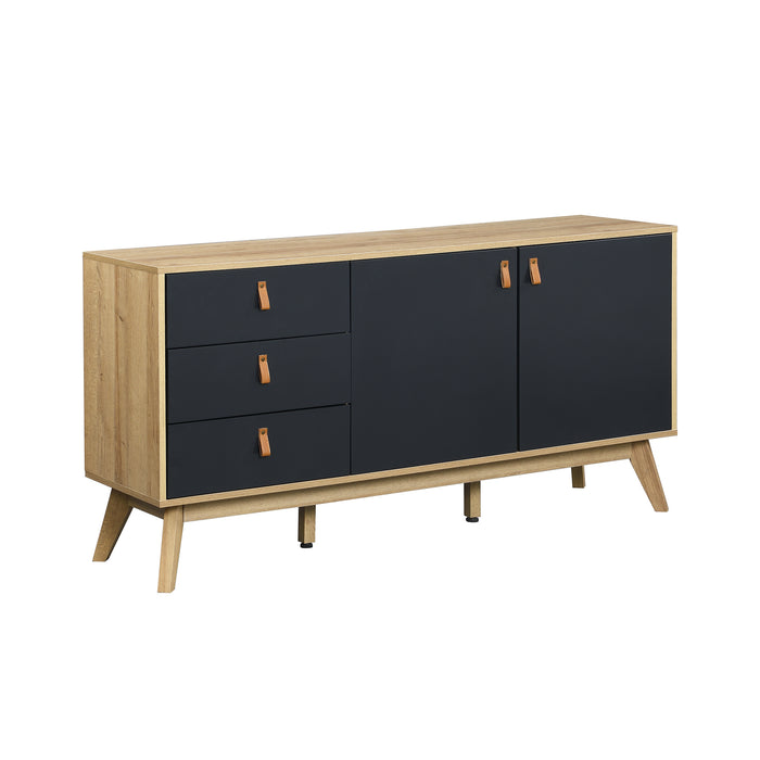 Tallis Two Tone Sideboard with 2 doors and 3 drawers 3