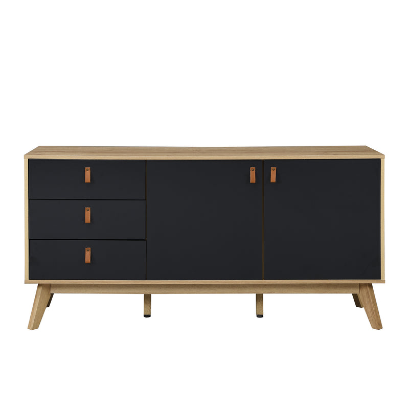 Tallis Two Tone Sideboard with 2 doors and 3 drawers 4