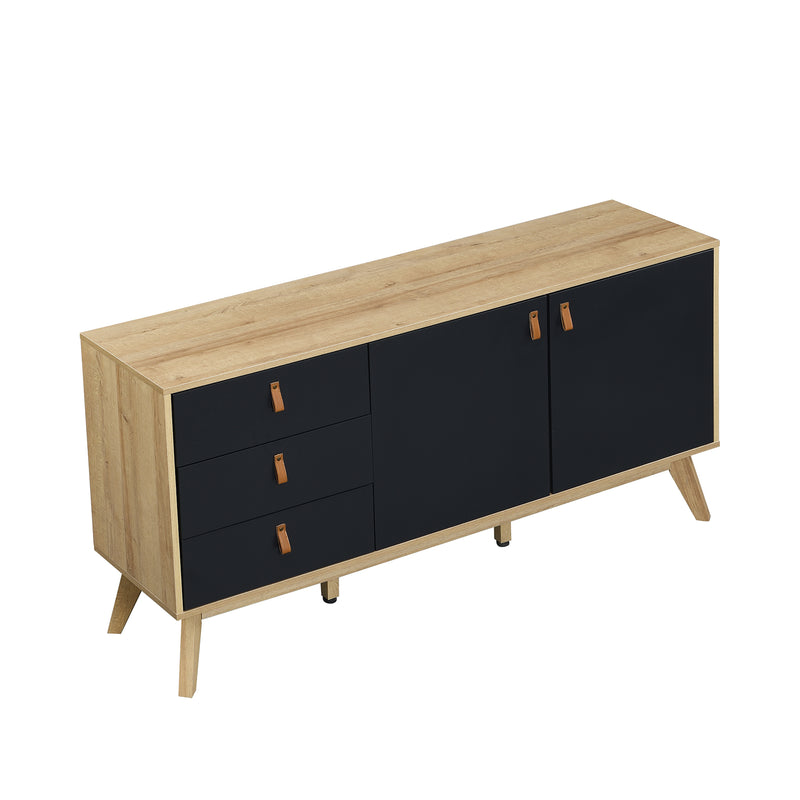 Tallis Two Tone Sideboard with 2 doors and 3 drawers 6