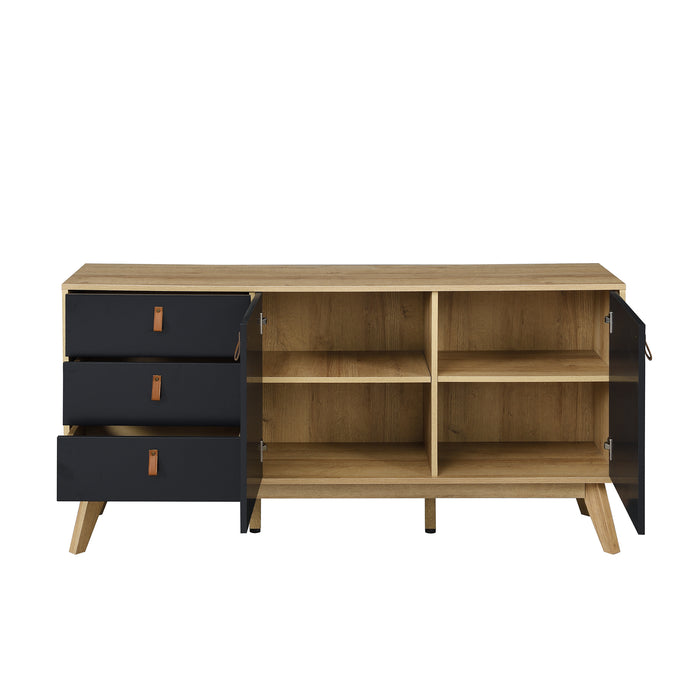 Tallis Two Tone Sideboard with 2 doors and 3 drawers 7