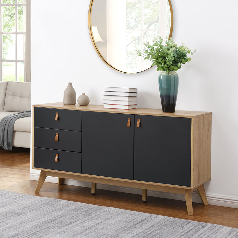 Tallis Two Tone Sideboard with 2 doors and 3 drawers