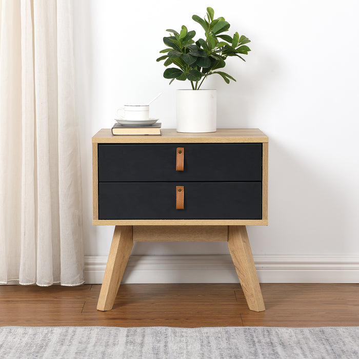 Tallis Two Tone Bedside Table with 2 drawers  2