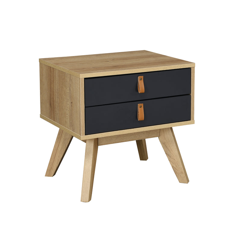 Tallis Two Tone Bedside Table with 2 drawers  3