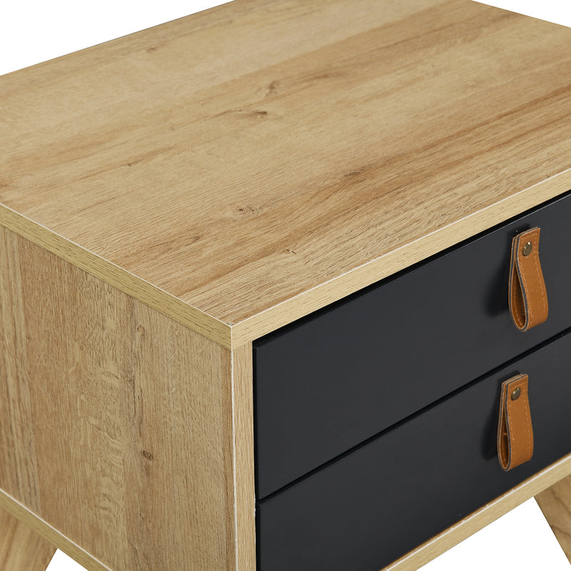 Tallis Two Tone Bedside Table with 2 drawers  6