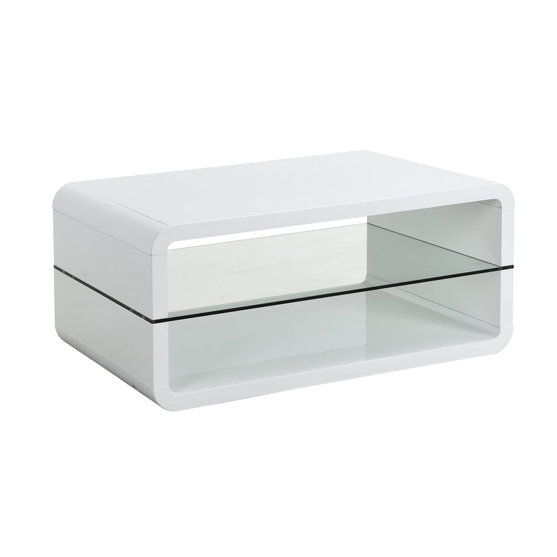 Lucent White High Gloss and Glass Coffee Table 3