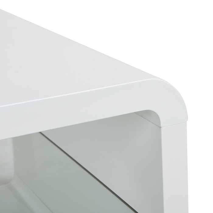 Lucent White High Gloss and Glass Coffee Table 7