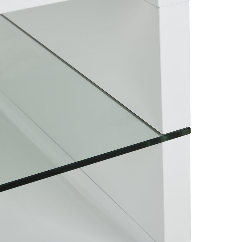 Lucent White High Gloss and Glass Coffee Table 8