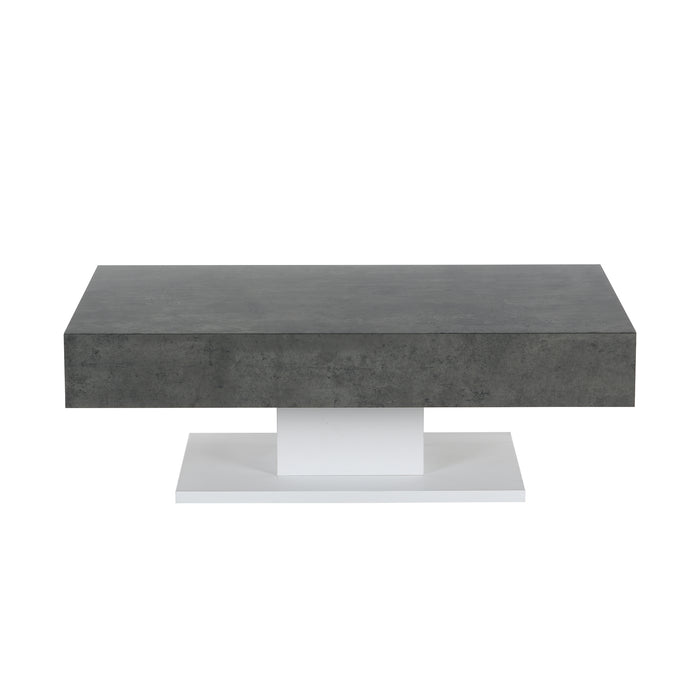 Goswell Concrete Effect Coffee Table with Double Drawers 4