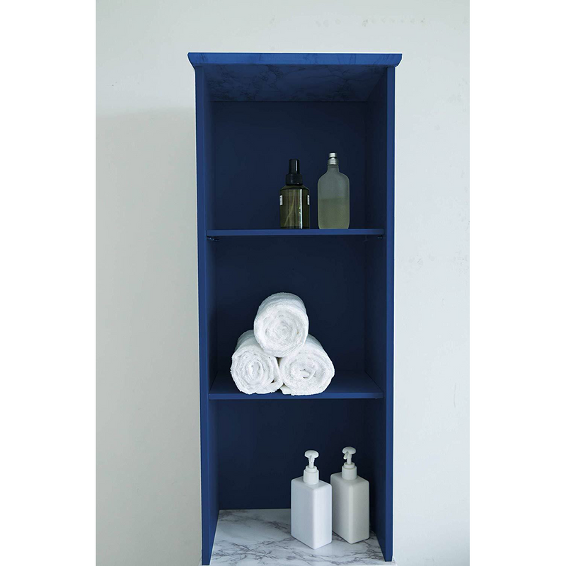 Tallboy Free Standing Bathroom Cabinet Tall Storage Unit Cupboard, BAT-02 Blue