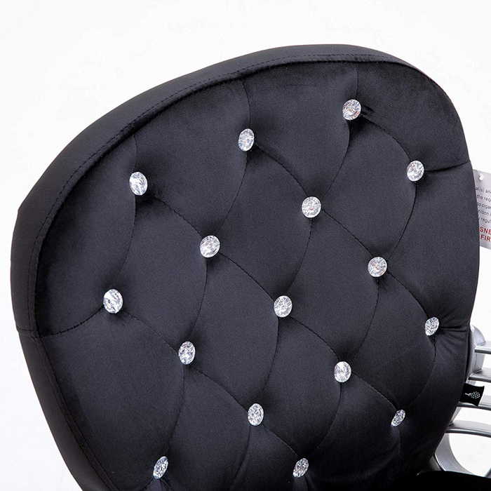 Black Velvet Chesterfield Swivel Chair