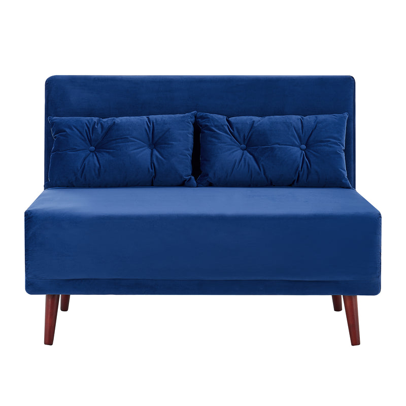Algo Sofabed with Cushions in Blue Velvet 2 Seater 4