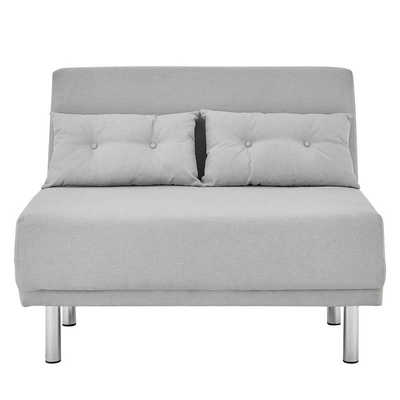 ALGO 2-Seater Small Double Folding Sofa Bed with Cushion Grey Fabric