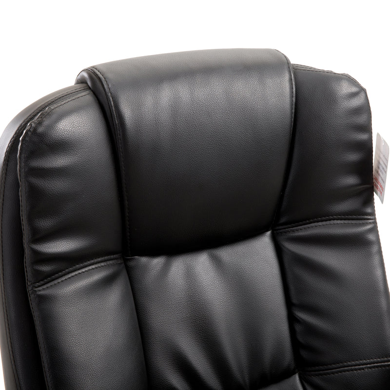 New Modern Design High Back PU Leather Chrome Base Office Chair