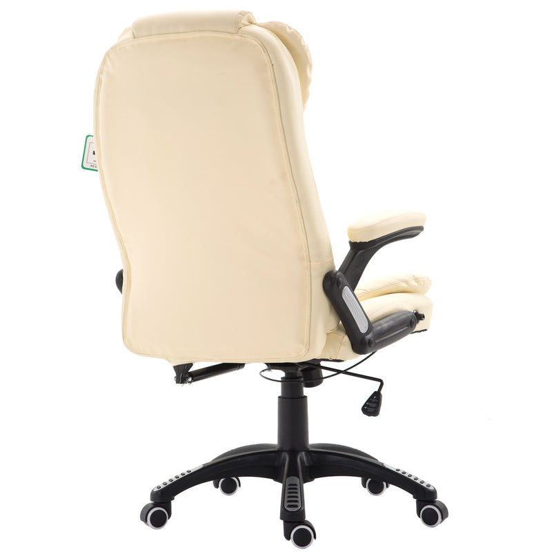executive recline high back extra padded office chair cream