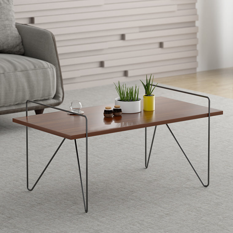 STELLA Hairpin Leg Walnut Colour Coffee Table Side Table