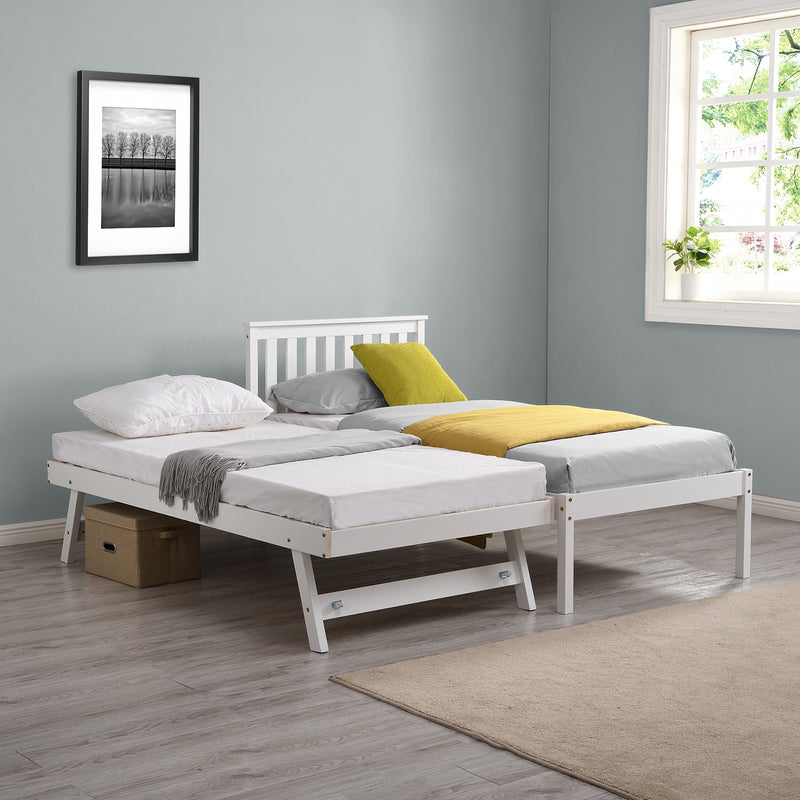 Fairfield FSC Certified Single Wooden Bed with Pop Up Trundle 2