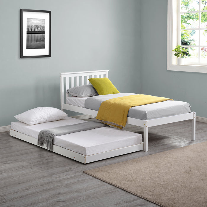 Fairfield FSC Certified Single Wooden Bed with Pop Up Trundle 3