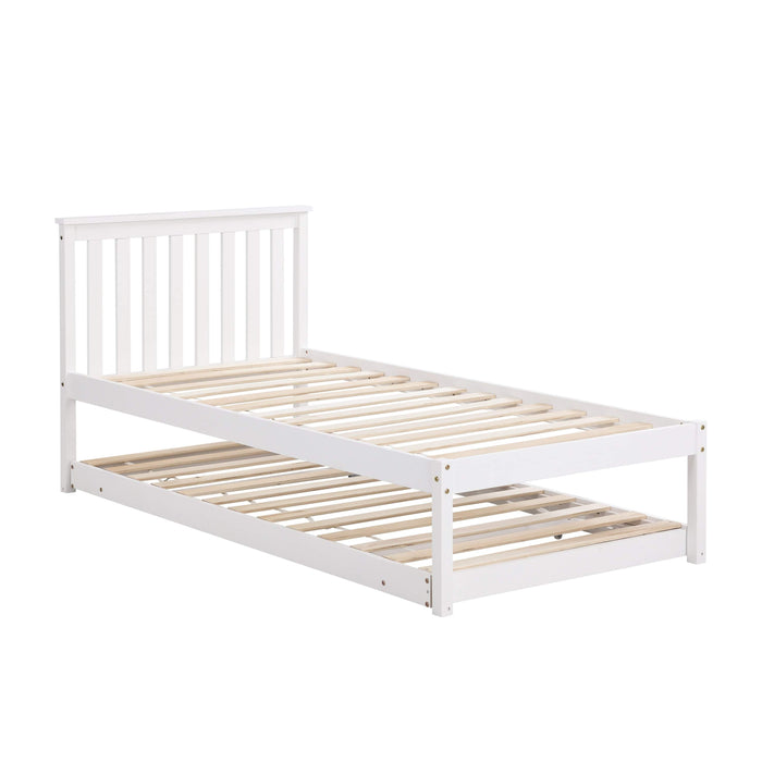 Fairfield FSC Certified Single Wooden Bed with Pop Up Trundle 7