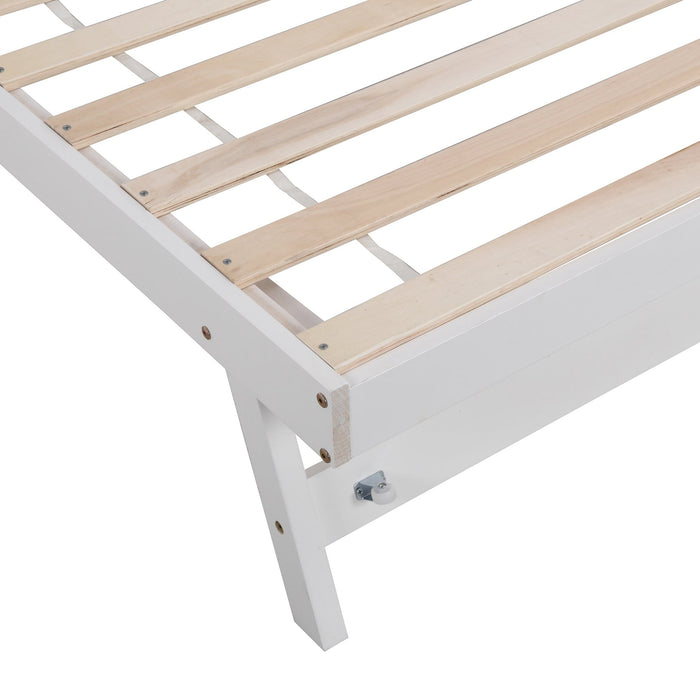 Fairfield FSC Certified Single Wooden Bed with Pop Up Trundle 10