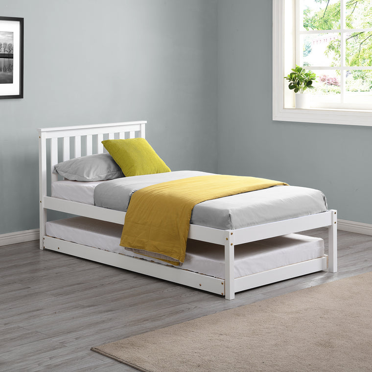 Fairfield FSC Certified Single Wooden Bed with Pop Up Trundle